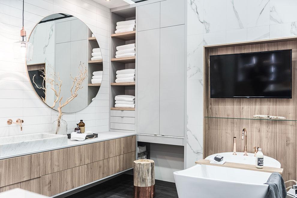 salon de l 39 habitation 2017 salle de bain armoires l vis