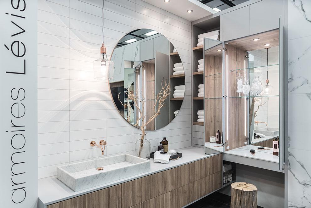 Salon de lhabitation 2017 - Salle de bain - Armoires Lévis